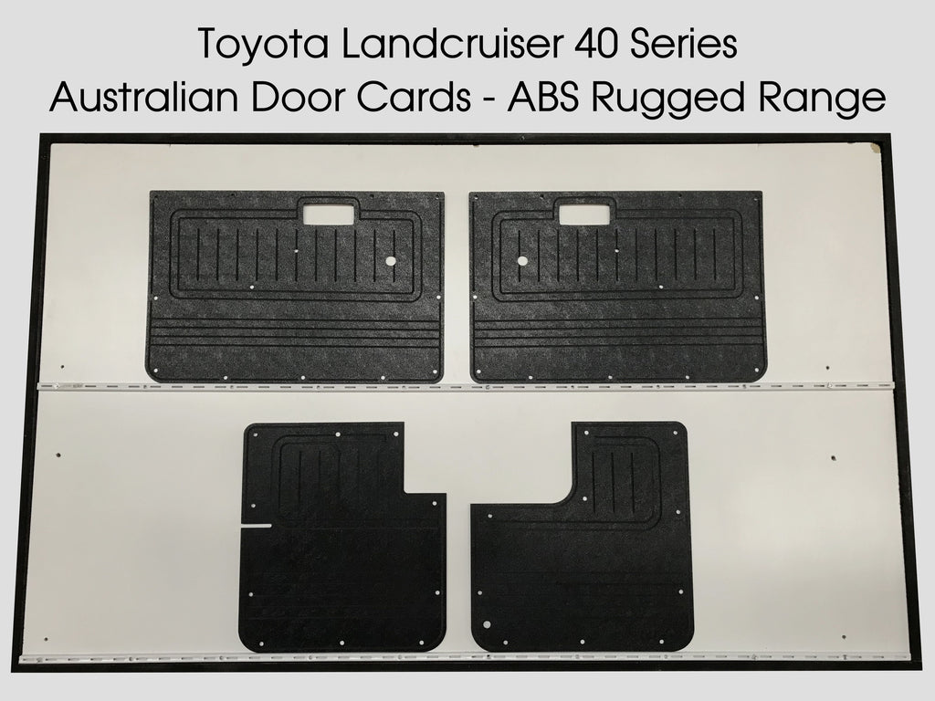 Toyota Landcruiser FJ40, FJ45 ABS Door Trim Panels. 2 Door Short Wheelbase