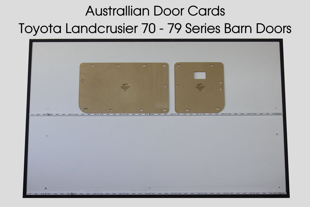 Toyota 70 Series Landcruiser Barn Door Blank Trim Panels Door Cards