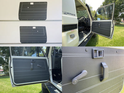 Toyota Landcruiser 70 Series ABS Door Cards - Manual Window Models - 2 Door Models - Grey