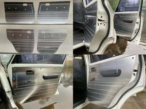 Toyota Landcruiser 80 Series Rugged Door Cards - Manual Window Models - Flat Aluminium