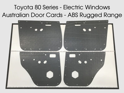 Toyota Landcruiser 80 Series Rugged ABS Door Cards - Electric Window Models