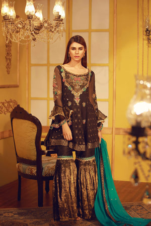 Moon Light Black | Pakistani Designer Outfit | Sarosh Salman