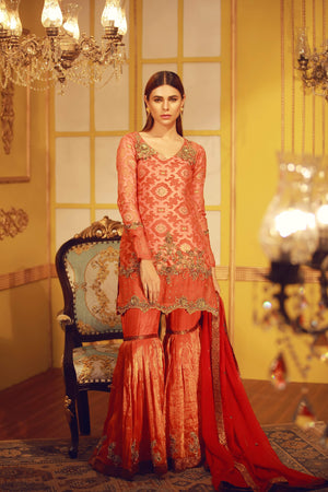 Burnt Orange | Pakistani Designer Outfit | Sarosh Salman