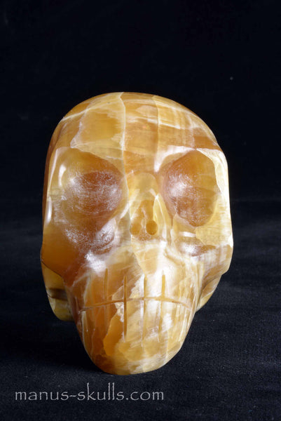 Honey Calcite Skull.