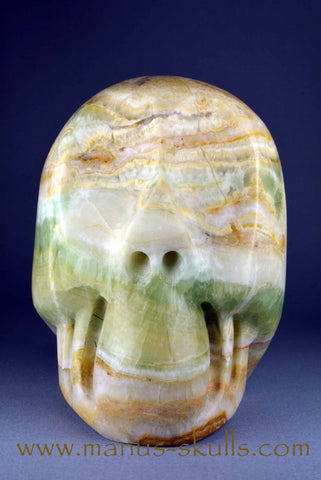 Big Rainbow Calcite Skull