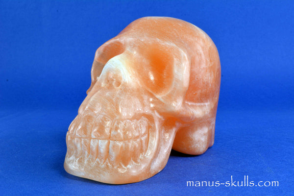 PEACH SELENITE Skull ..... NEW!!