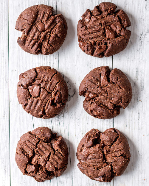 GF Double Choc Cookies