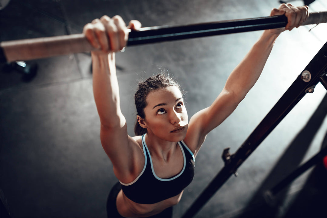 Woman doing pullups