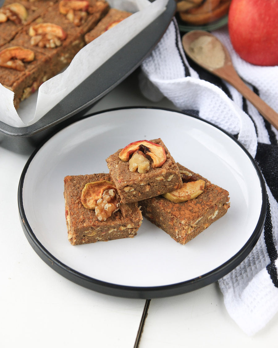 Spiced Apple Pie Protein Squares