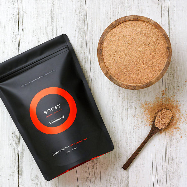 Tropeaka Boost Powder For A Caffeine-Free Vitality Buzz