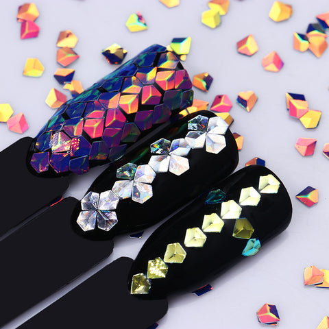 6 set Holo Diamond shaped Sequins