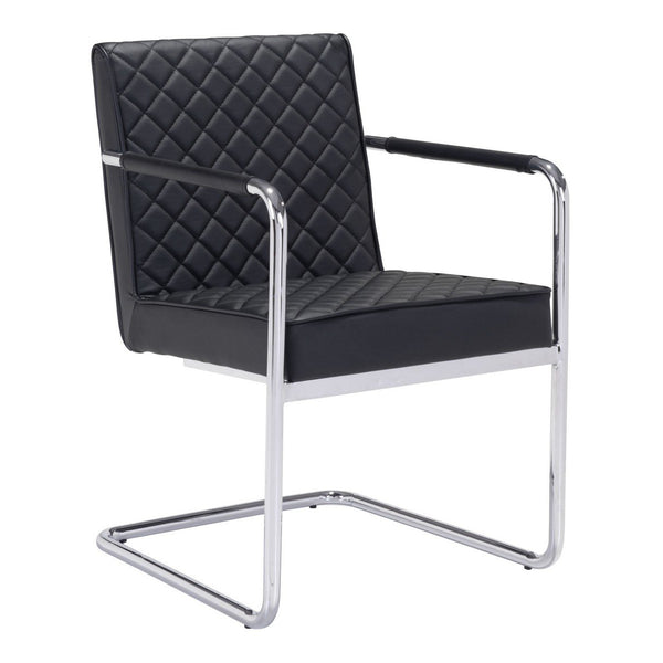 Zuo Modern Quilt Dining Chair (Set of 2) Black - 100189