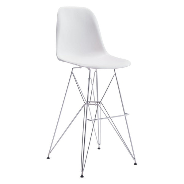 Zuo Modern Zip Bar Chair White - 100323