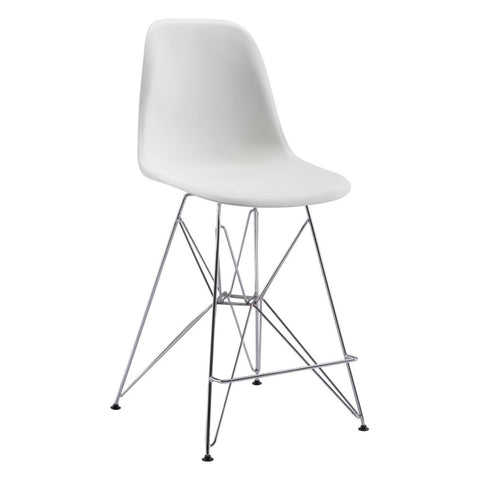 Zuo Modern Zip Counter Chair White - 100582