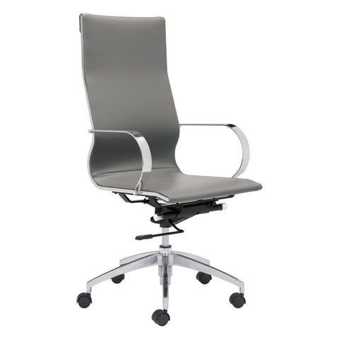 Zuo Modern Glider High Back Office Chair Gray - 100834