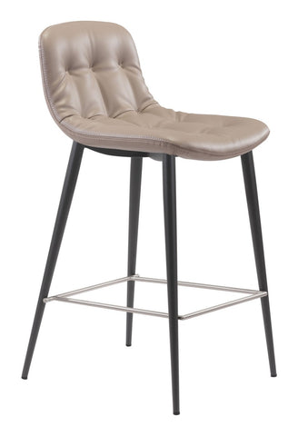 Zuo Modern Tangiers Counter Chair Taupe | Set Of 2 - 101084