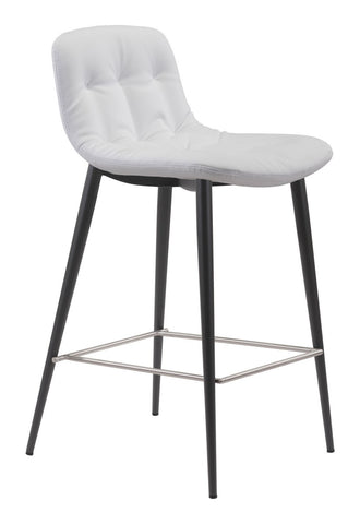 Zuo Modern Tangiers Counter Chair White | Set Of 2 - 101085