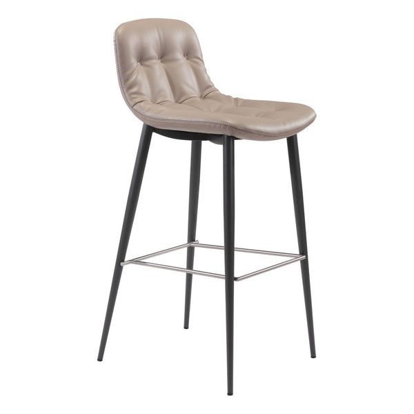 Zuo Modern Tangiers Bar Chair (Set of 2) Taupe - 101086