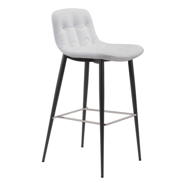 Zuo Modern Tangiers Bar Chair (Set of 2) White - 101087