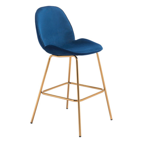 Zuo Modern Siena Bar Chair (Set of 2) Dark Blue - 101222
