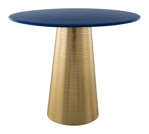 Zuo Modern Reo Side Table Blue & Gold - 101449