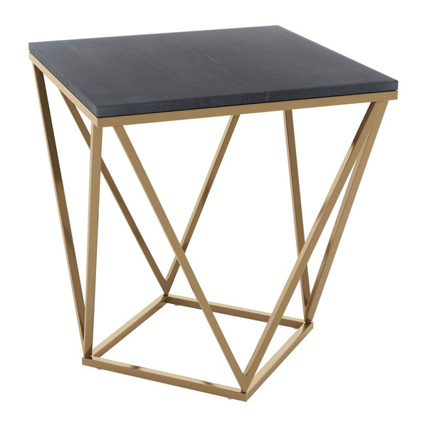 Zuo Modern Verona Side Table Black & Gold - 101734