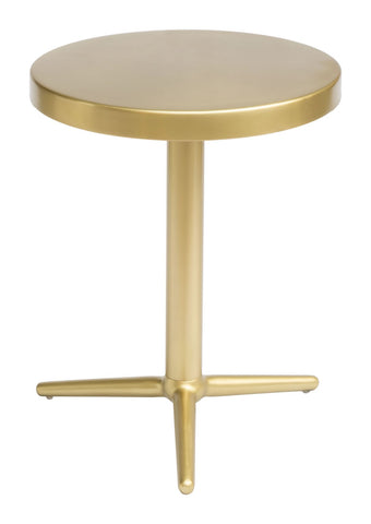 Zuo Modern Derby Accent Table Brass - 405001