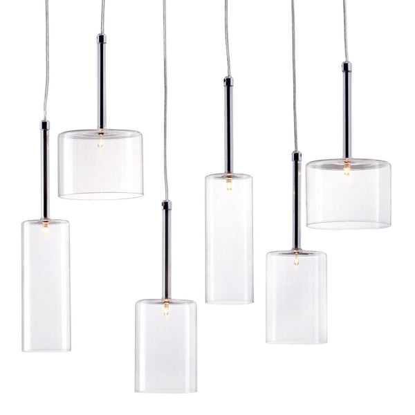 Zuo Modern Hale Ceiling Lamp Clear - 50140