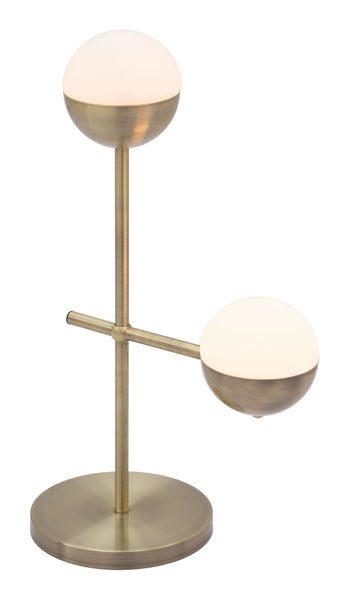 Zuo Modern Waterloo Table Lamp White & Brushed Bronze - 56050