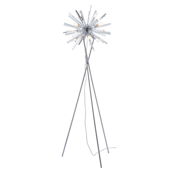 Zuo Modern Savoy Floor Lamp Chrome - 56058