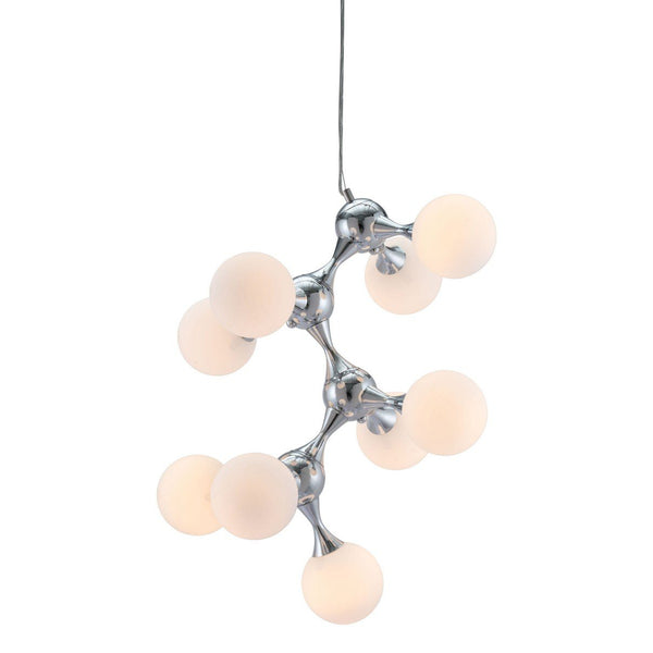 Zuo Modern Pomegranate Ceiling Lamp White & Chrome - 56066