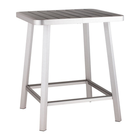 Zuo Modern Megapolis Bar Table Brushed Aluminum - 703184