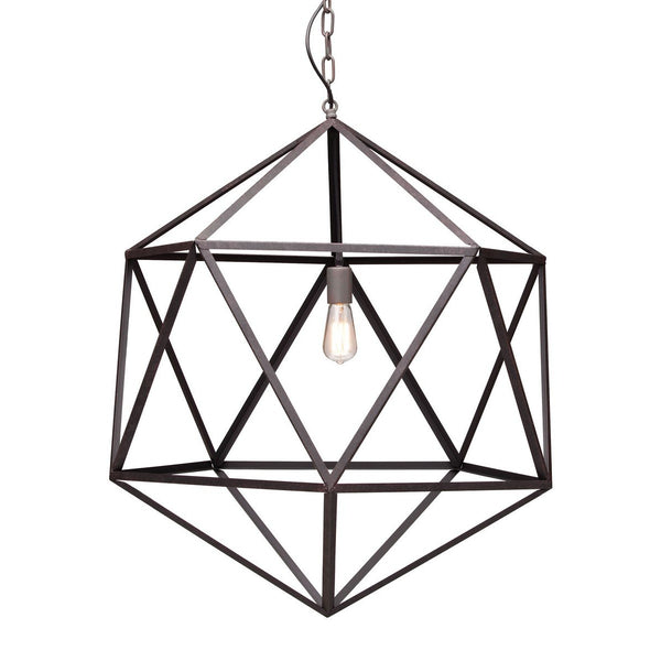 Zuo Modern Amethyst Ceiling Lamp Large Rust - 98242
