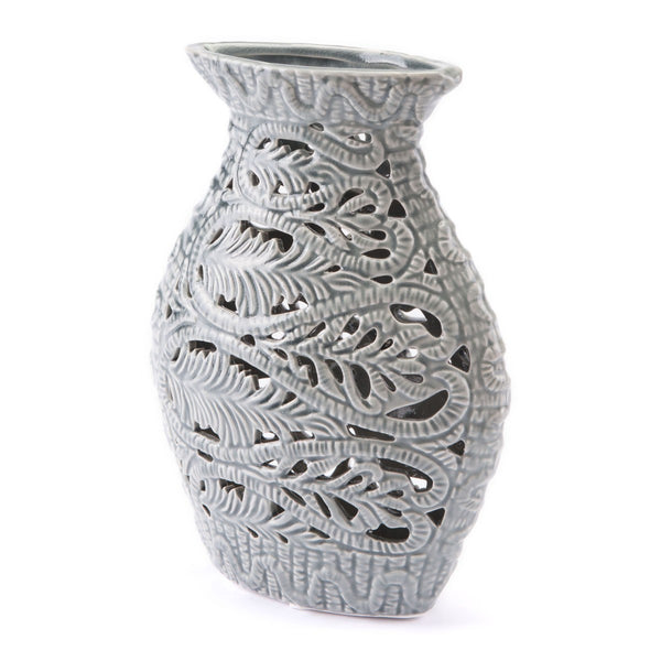 Zuo Modern Medium Leaves Vase Gray - A10020