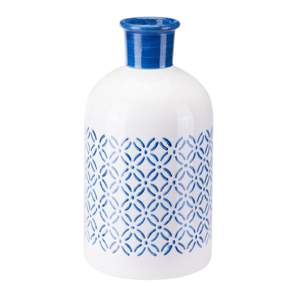 Zuo Modern Small Bottle Steel Blue and White - A10390