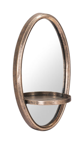 Zuo Modern Petite Ogee Mirror & Shelf Gold - A10987