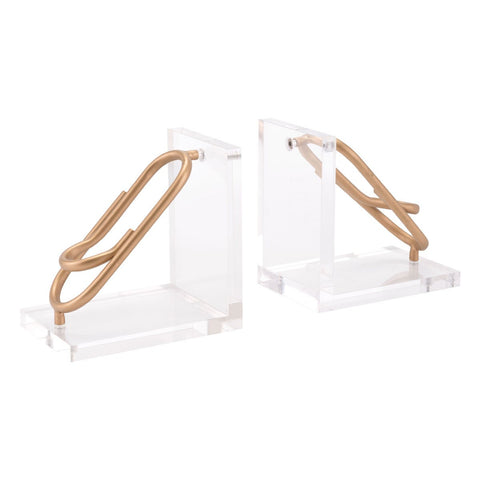Zuo Modern Clips Bookends Gold - A11003