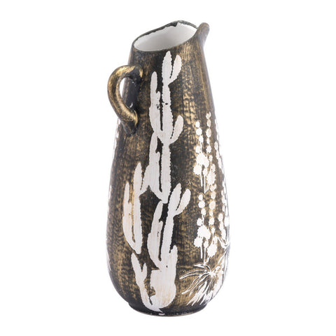 Zuo Modern Small Jaci Jar Antique Gold & White - A11395