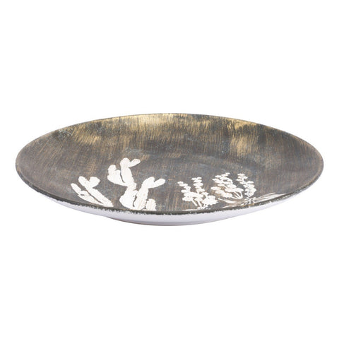 Zuo Modern Large Jaci Plate Antique Gold & White - A11396
