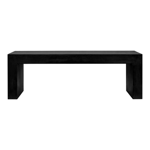 Moe's Home Collection Lazarus Outdoor Bench Black - BQ-1005-02