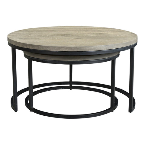 Moe's Home Collection Drey Round Nesting Coffee Tables Set Of 2 - BV-1011-15