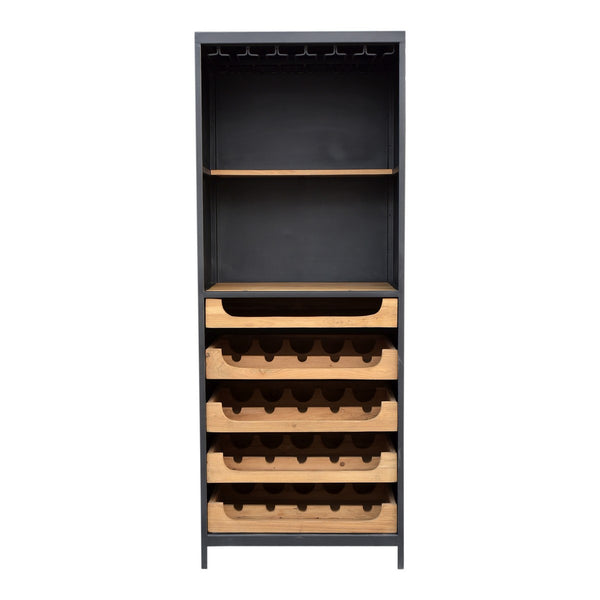 Moe's Home Collection Chefs Teak Wine Bar - DR-1322-24