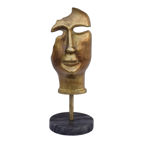 Moe's Home Collection Golden Mask On Stand - FI-1069-53