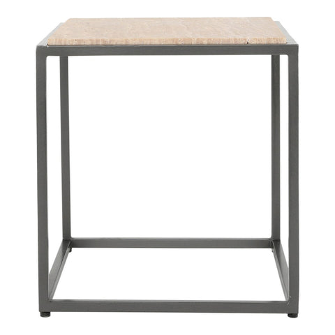Moe's Home Collection Winslow Marble Side Table Cappuccino - GK-1004-14