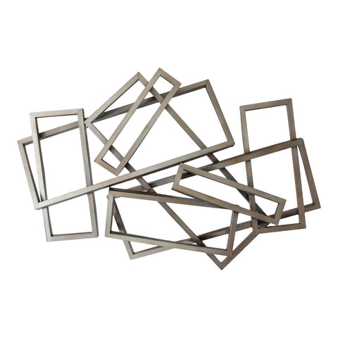 Moe's Home Collection Metal Rectangles Wall Décor - HW-1007-30