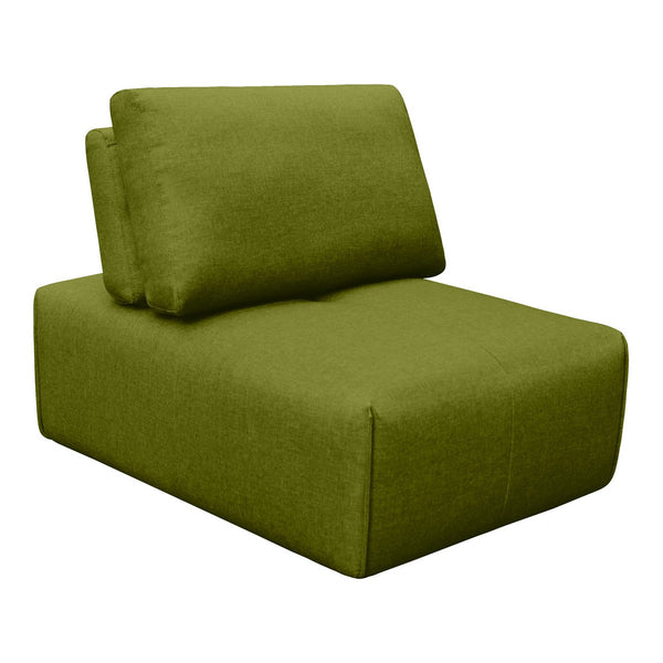 Moe's Home Collection Nathaniel Slipper Chair Green - MT-1008-16