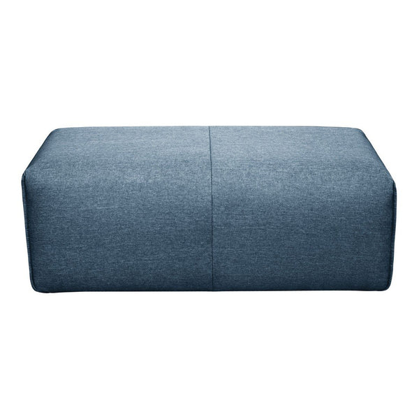 Moe's Home Collection Nathaniel Ottoman Blue - MT-1010-19
