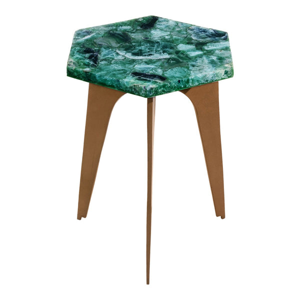 Moe's Home Collection Green Fluorite Accent Table - PJ-1007-16