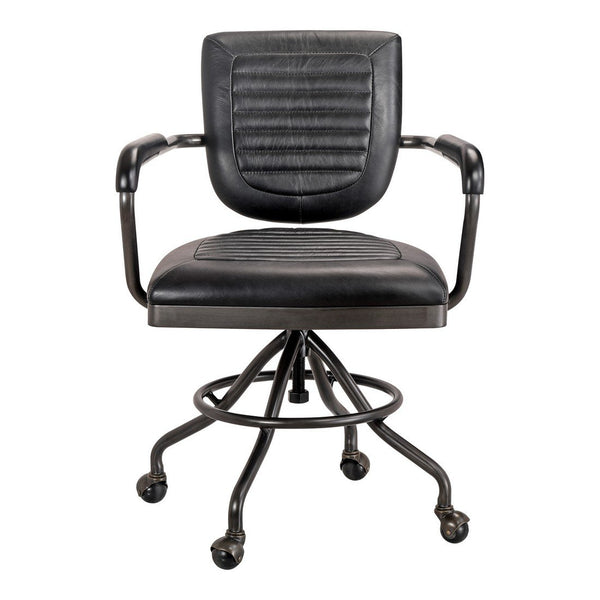 Moe's Home Collection Foster Swivel Desk Chair Black - PK-1049-02