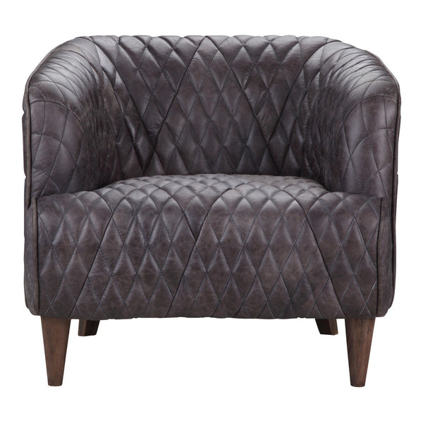 Moe's Home Collection Magdelan Tufted Leather Armchair - PK-1076-47